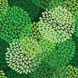 Seamless green pattern Stock Photography