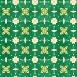 Seamless Green Pattern Design. A completely seamless abstract tile able paper pattern stock images