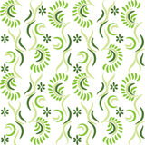 Seamless green pattern with flowers Royalty Free Stock Image
