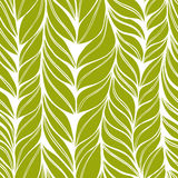 Seamless green pattern with leaves Royalty Free Stock Photos