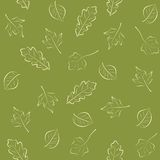 Seamless green pattern with leaves Royalty Free Stock Image