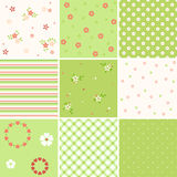Seamless Green Pink Royalty Free Stock Image