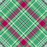 Seamless green-purple checkered pattern Stock Photography