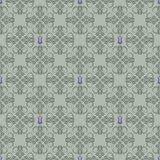 Seamless green and purple floral wallpaper Stock Photography