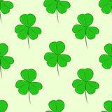 Seamless green shamrocks. Seamless texture with identical forms of green shamrocks Royalty Free Stock Image