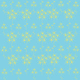 Seamless green simple flower textile pattern Royalty Free Stock Photos