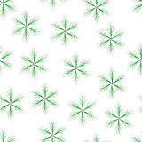 Seamless of green six-pointed star with thin twigs. Fluffy seamless  for your design Royalty Free Stock Photo