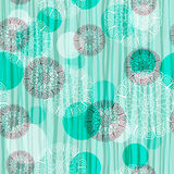 Seamless green striped pattern Stock Images