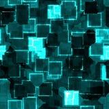 Seamless Green Techno Background Stock Image
