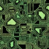 Seamless Green Techno Background Royalty Free Stock Photo