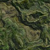 Seamless Green Terrain Background Royalty Free Stock Images