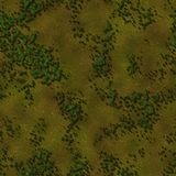 Seamless Green Terrain Background Stock Images