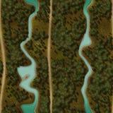 Seamless Green Terrain Background Royalty Free Stock Photos