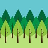Seamless green trees Stock Photos