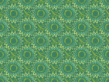 Seamless green vertical floral background in retro style Stock Image