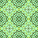 Seamless green wallpaper. Stock Image