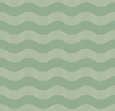Seamless green wave pattern. Of parallel lines stock image