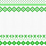 Seamless green and white knitted background Stock Photography