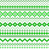 Seamless green and white knitted background Royalty Free Stock Photography