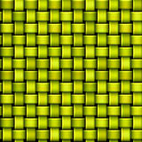 Seamless green and yellow pattern with intertwining structure resembling basket Royalty Free Stock Photography