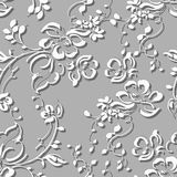 Seamless grey abstract floral background Royalty Free Stock Photography