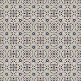 Seamless Grey & Blue Damask Pattern Stock Image