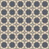 Seamless Grey & Blue Damask Wallpaper Pattern Royalty Free Stock Photo