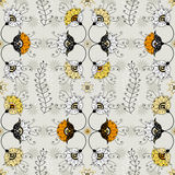 Seamless grey floral pattern Stock Photo