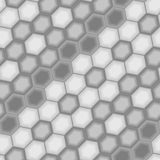 Seamless grey hexagon pattern Stock Image