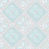 Seamless grey pattern. Seamless blue and white pattern with pink elements and green leaves on a grey background Royalty Free Stock Photos