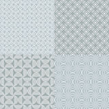 Seamless grey patterns. Stock Photos