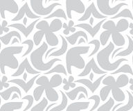 Seamless grey and white floral pattern. Seamless grey and white floral abstract pattern Stock Photo