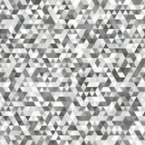 Seamless Grey and White Pattern of Symmetric Triangles for Unive. Rsal Application. Grid of Monochrome Triangles. Geometric Concept Stock Images