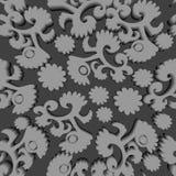 Seamless greyscale pattern Royalty Free Stock Image