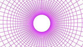 Seamless grid net polygonal wireframe abstract retro tunnel slow motion fly loop drawing motion graphics animation. Grid net abstract drawing polygonal soft stock video footage