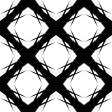 182-3. Seamless Grid Pattern. Vector Black and White Background. Regular Texture Stock Images