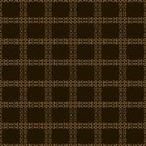 Seamless grille vector pattern on brown background Stock Images