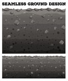 Seamless ground with different layers Stock Photography