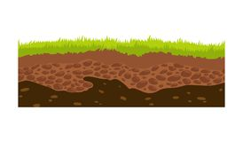 Free Seamless Ground, Soil And Land Vector Image For UI Games. Surface Of Ground, Stone Grass Illustration. Stock Photos - 159845293