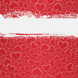 Seamless grunge background with hearts Stock Photo