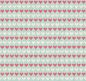 Seamless grunge background with hearts Stock Images