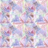 Seamless grunge background, mosaic, kaleidoscopic brightly multicolored pattern. Stock Images