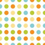 Seamless grunge circles polka dots background texture vector illustration