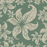 Seamless grunge floral pattern Royalty Free Stock Image