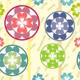 Seamless grunge flowers texture 513 Stock Image