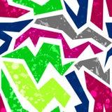 Seamless grunge graffiti pattern funky urban pattern Stock Image