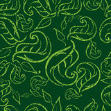 Seamless grunge leafs background Stock Photos