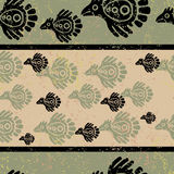Seamless grunge Mexican pattern Royalty Free Stock Photography