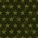 seamless grunge military pattern with stars Royalty Free Stock Photos