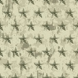 seamless grunge military pattern with stars Royalty Free Stock Photography